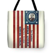 Lincoln 1860 Presidential Campaign Banner Tote Bag