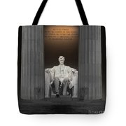 Lincoln And Columns Tote Bag