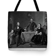Lincoln And Family Tote Bag