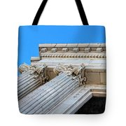 Lincoln County Courthouse Columns Looking Up 01 Tote Bag