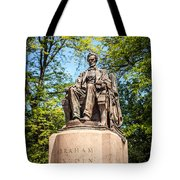 Lincoln Head Of State Statue In Chicago Tote Bag