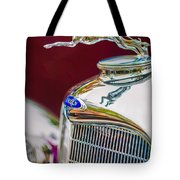 Lincoln Hood Ornament - Grille Emblem -1187c Tote Bag by Jill Reger