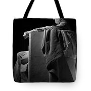 Lincoln In Black And White Tote Bag
