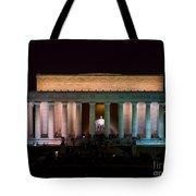 Lincoln Memorial At Night Tote Bag