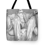 Lincoln Memorial Black/white Hdr Tote Bag