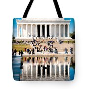 Lincoln Memorial Tote Bag by Greg Fortier