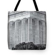 Lincoln Memorial Pillars Bw Tote Bag