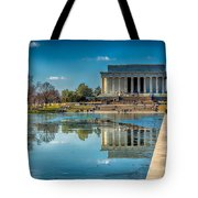 Lincoln Memorial Reflection Tote Bag