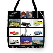 Poster Of Lincoln Cars Tote Bag