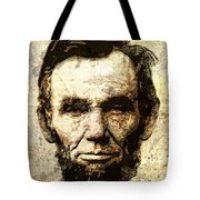 Lincoln Sepia Grunge Tote Bag