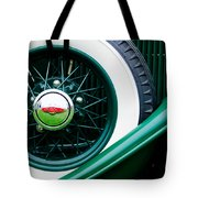 Lincoln Spare Tire Emblem Tote Bag