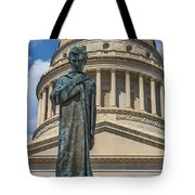 Lincoln Stands Guard Tote Bag