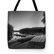 Lincoln Trail State Park Bw Tote Bag