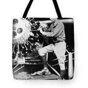 Lindbergh Tunes Up Plane Tote Bag