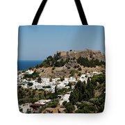 Lindos Acropolis Looking Seaward Tote Bag