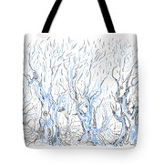 Line Forest Tote Bag