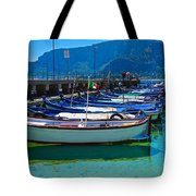 Lined Up Fleet In Sicily Tote Bag
