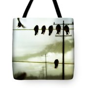 Abstract Bird Lines Tote Bag