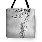 Lines In Black And White Tote Bag