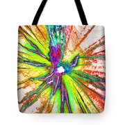 Lines Of Color Tote Bag