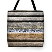 Lines Of Ice Tote Bag