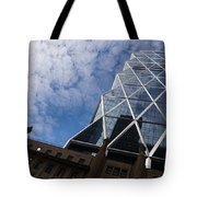 Lines Triangles And Cloud Puffs - Hearst Tower In New York City Tote Bag