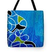 Linework Blue Tote Bag