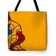 Linework Yellow Tote Bag