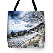 Linn Cove Viaduct Winter Scenery Tote Bag