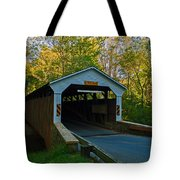 Linton Stevens Covered Bridge Tote Bag