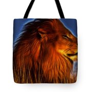 Lion - King Of Animals Tote Bag