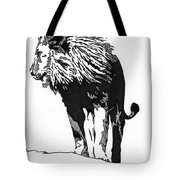 Lion 5x7 Card Tote Bag