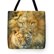 Lion And Lioness- African Royalty Tote Bag