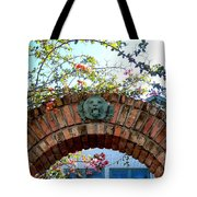 Lion Arch With Flowers Tote Bag