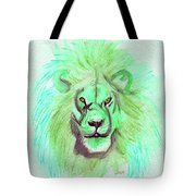 Lion Blue By Jrr Tote Bag