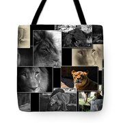 Lion Collage Tote Bag