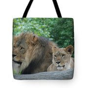 Lion Couple Tote Bag