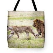 Lion Couple Tote Bag