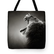 Lion Displaying Dangerous Teeth Tote Bag by Johan Swanepoel