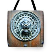 Lion Door Knocker In Norway Tote Bag