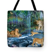 Lion Falls Tote Bag