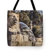 Lion Fountain In Rome Italy Tote Bag