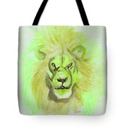 Lion Green Tote Bag