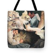 Lion Hugs Tote Bag