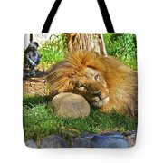 Lion In Repose Tote Bag