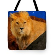 Lion In The Evening Tote Bag