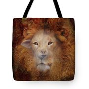 Lion Lamb Face Tote Bag