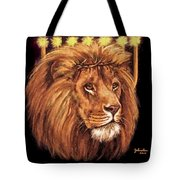 Lion Of Judah - Menorah Tote Bag
