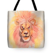 Lion Orange Tote Bag