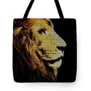 Lion Paint Tote Bag